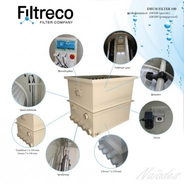 Drum filter Filtreco 55 Gravity