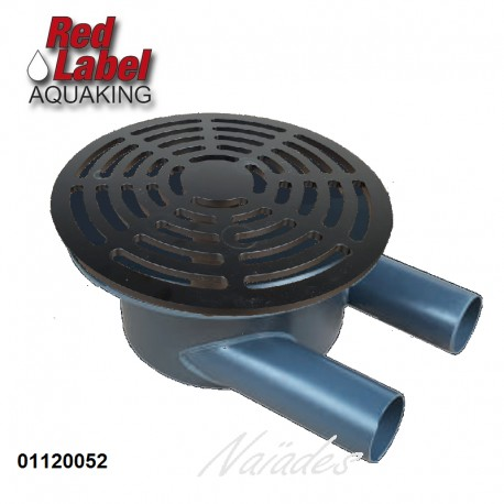Bottom drain 110 mm with chamber
