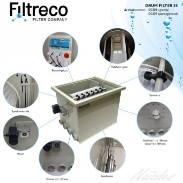 Drum filter Filtreco 55 pumping