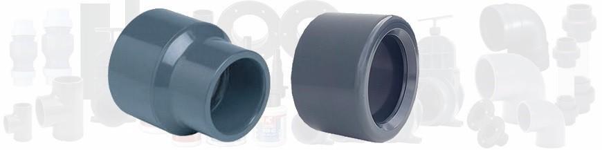 Bagues et réductions PVC